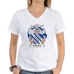 Cancino Family Crest Women's V-Neck T-Shirt