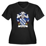 Cancino Family Crest Women's Plus Size V-Neck Dark