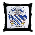 Cancino Family Crest Throw Pillow
