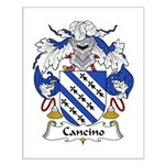 Cancino Family Crest Small Poster