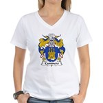 Caminero Family Crest Women's V-Neck T-Shirt