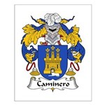 Caminero Family Crest Small Poster
