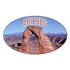 Arches National Park Oval Decal