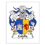 Calella Family Crest Small Poster