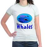 Whales Jr. Ringer T-shirt