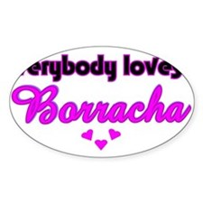 Borracha Oval Decal