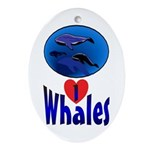 Whales Oval Ornament