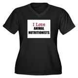 I Love ANIMAL NUTRITIONISTS Women's Plus Size V-Ne