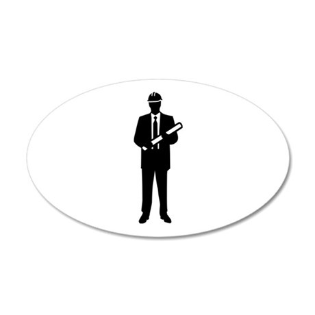 Engineer Architect 20x12 Oval Wall Decal