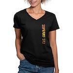 Soprano Sax Stamp Women's V-Neck Dark T-Shirt