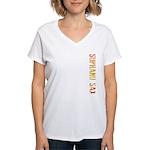 Soprano Sax Stamp Women's V-Neck T-Shirt
