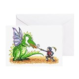 Brave Knight Greeting Card