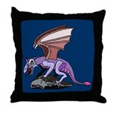 Dragon on Cliff Throw Pillow