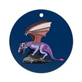 Dragon on Cliff Ornament (Round)