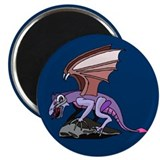 "Dragon on Cliff 2.25"" Magnet (100 pack)"