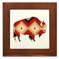 Cute American indian pattern Framed Tile