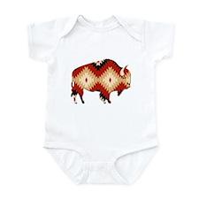 Cute Native american buffalo Infant Bodysuit