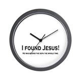 Found Jesus Wall Clock