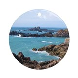 Rocky Coast Lighthouse Porcelain Ornament
