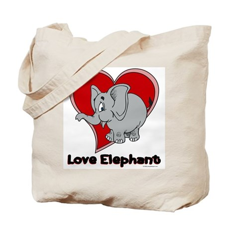 Love Elephant Tote Bag