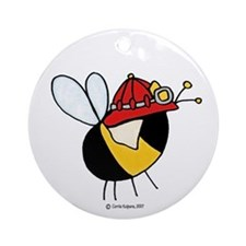 firefighter, rescue Ornament (Round)