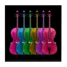 Colorful Cello Tile Coaster