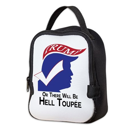 Funny Trump Hell Toupee Neoprene Lunch Bag