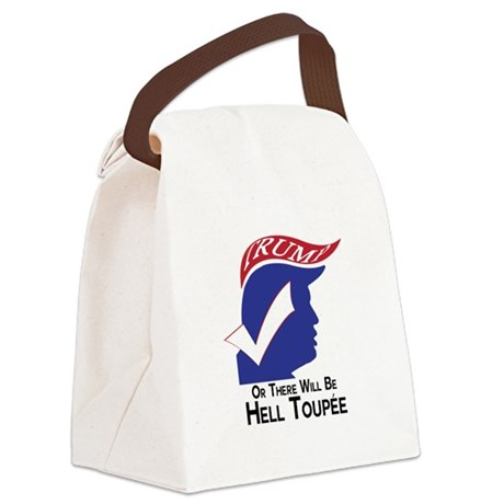 Funny Trump Hell Toupee Canvas Lunch Bag