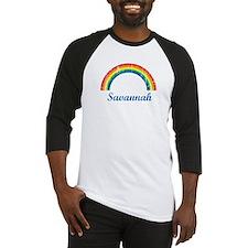Savannah vintage rainbow Baseball Jersey