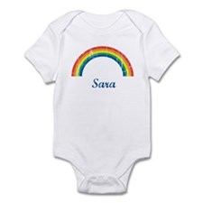 Sara vintage rainbow Infant Bodysuit