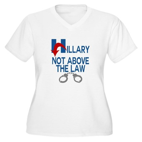 ANTI HILLARY Not Above the law Plus Size T-Shirt