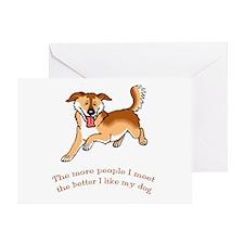 I Like My Dog Greeting Card