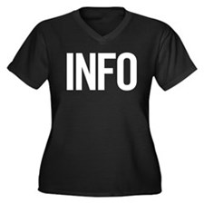 Info (white) Women's Plus Size V-Neck Dark T-Shirt