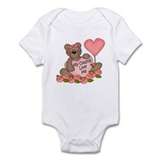 My Cousins Love Me CUTE Bear Infant Bodysuit