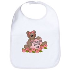 My Cousin Loves Me CUTE Bear Bib