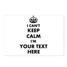 I cant keep calm Postcards (Package of 8)