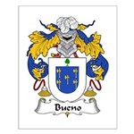 Bueno Family Crest Small Poster