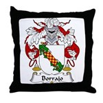 Borrajo Family Crest Throw Pillow