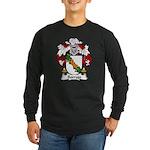 Borrajo Family Crest Long Sleeve Dark T-Shirt