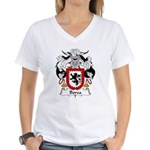 Borea Family Crest Women's V-Neck T-Shirt