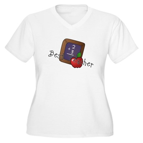 Best Teacher Women's Plus Size V-Neck T-Shirt