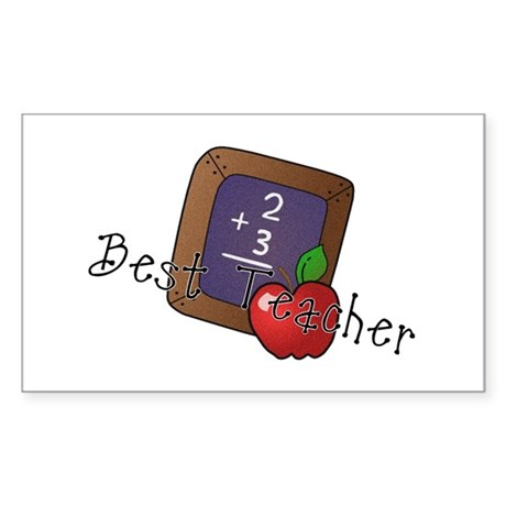 Best Teacher Rectangle Sticker