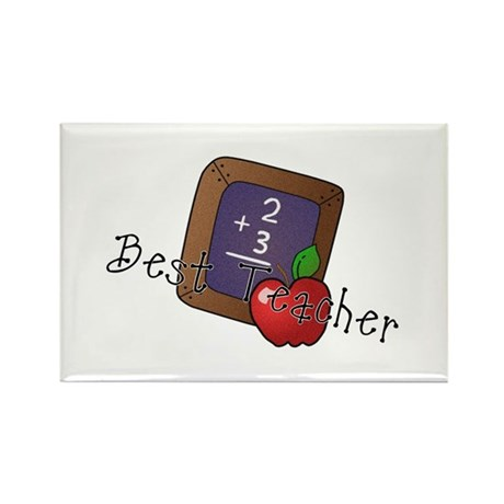 Best Teacher Rectangle Magnet