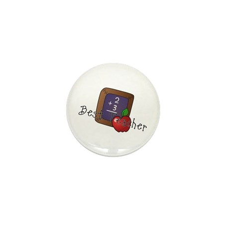 Best Teacher Mini Button (10 pack)