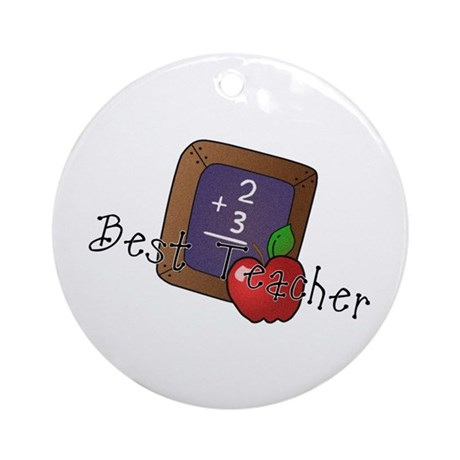 Best Teacher Ornament (Round)