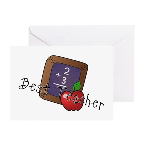 Best Teacher Greeting Cards (Pk of 20)