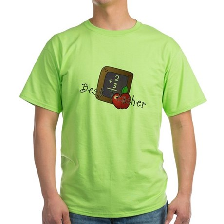 Best Teacher Green T-Shirt