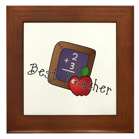 Best Teacher Framed Tile