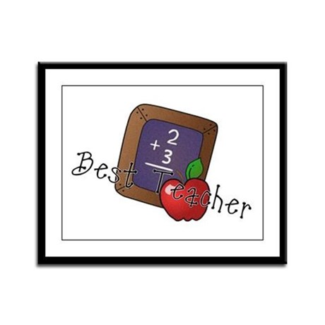 Best Teacher Framed Panel Print