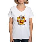 Berges Family Crest Women's V-Neck T-Shirt
